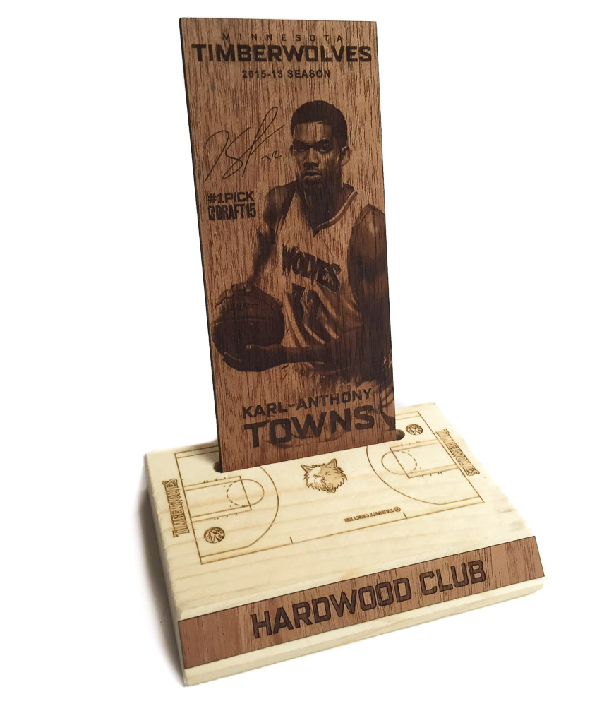 Timberwolves Hardwood Club Plaque-1